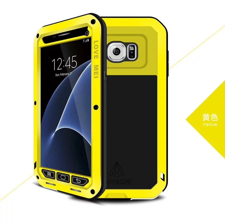S7 Case Newest Top Quality Aluminum Armor Hard Cover Case For Samsung Galaxy S7 G930 G9300 Original Metal Waterproof Phone Shell