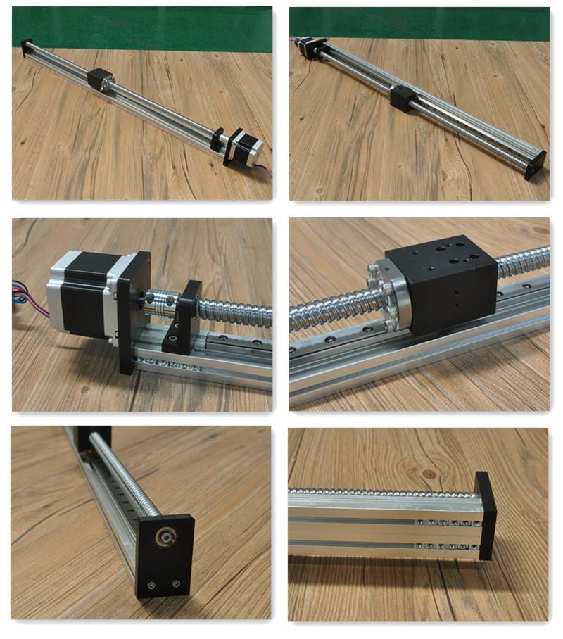Free Shipping Nema 23 Motor 700mm Stroke Motorized Linear