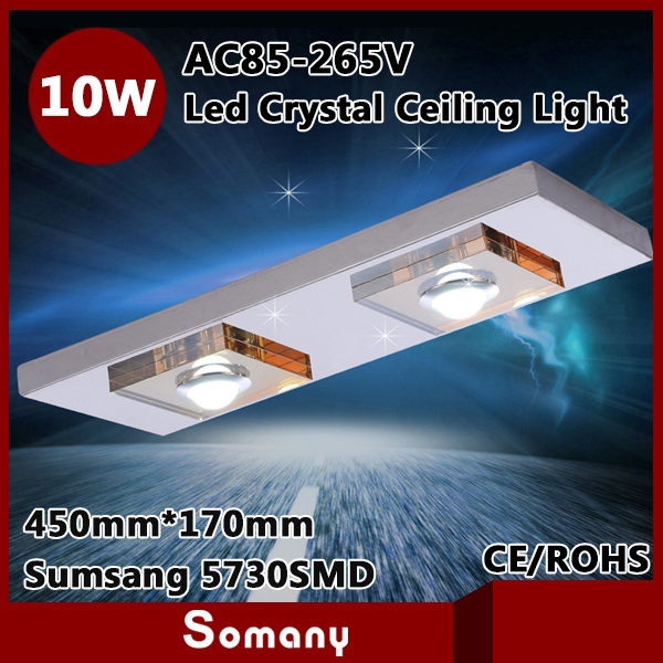 2015 Discount Novelty Households Indoor Ceiling Light 5730SMD Surface Mounted Rectangle 10W Dual ...