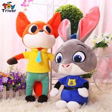 2016 Hot New Movie Zootopia Plush Toys Rabbit Judy Hopps Nick wilde 48CM Zootopia Stuffed Plush doll children baby kids gift