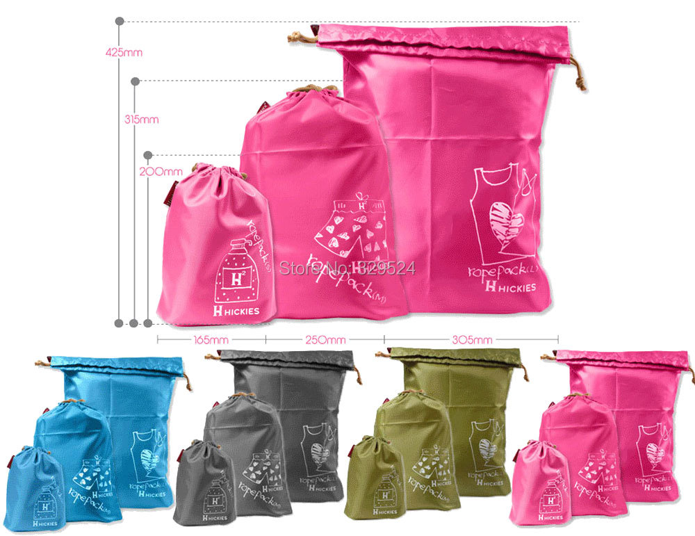 set Oxford Cloth material travel storage bags Four colors Cinch bag underwear dirty clothes organizers - Tyler's Studio store