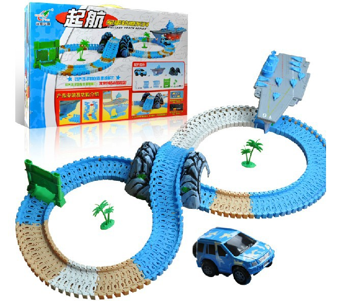 Children Locomotive train track set toy Electric rail car Educational toys for kids birthday gift