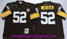 Stitiched Pittsburgh Steelers Troy Polamalu Heath Miller Joe Greene Hines Ward Antonio Brown L.C. Greenwood mens Throwback(China (Mainland))