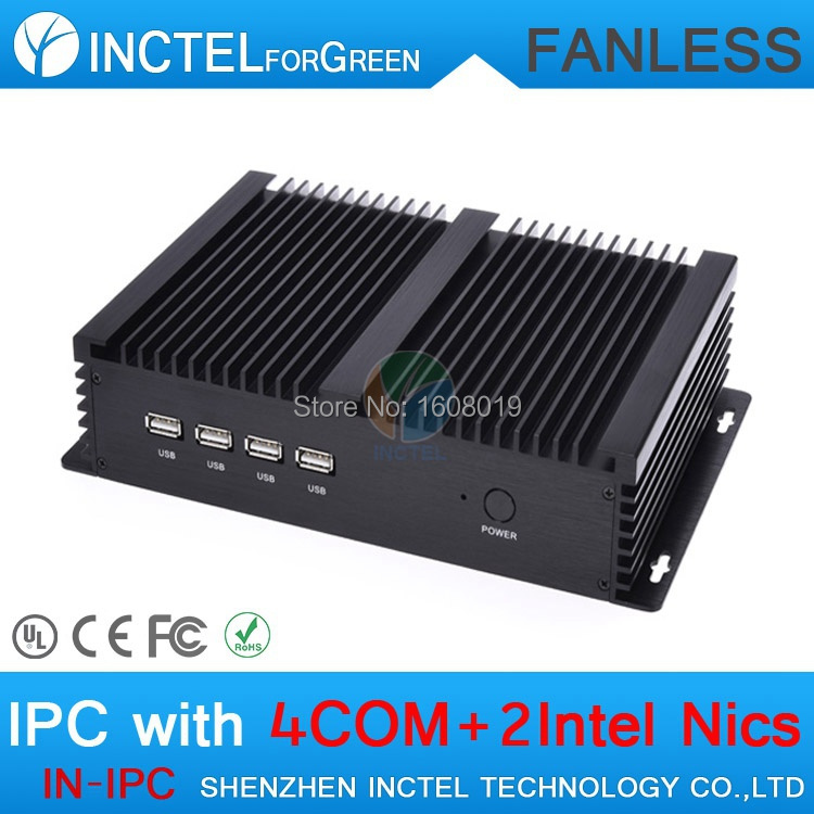 2G RAM only Fanless Industrial PC case Auto Boot Intel Celeron C1037U 1.8G USB 3.0 Dual Gigabit Lan 4*COM HD(China (Mainland))
