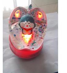 Doraemon cartoon cat Doraemon colorful lights rotating music box(China (Mainland))