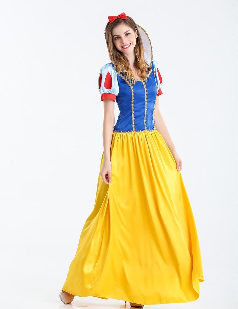 women fantasia princess snow white cosplay costume halloween
