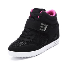 2016 Fashion High Top Women Shoes Platform Hidden Increasing Shoes Lady Ankle Boots  Breathable chaussure femme
