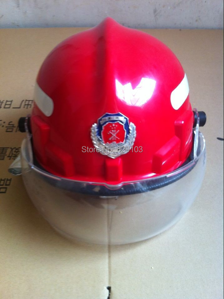 Red Color Fireman Helmet For Firefighting Officer Fireman Leader Free Shipping
