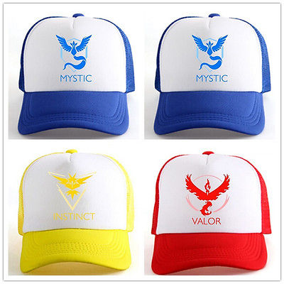 Pokemon Go ash ketchum trainer Cap Hat Team Valor Team Mystic Team Instinct Pokemon Cap Pokemon Hat Baseball Caps(China (Mainland))