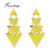 Triangle Geometric Earrings Irregular Yellow Enamel Drop Earrings Bijoux Brincos Women Fashion Long Earrings  from india