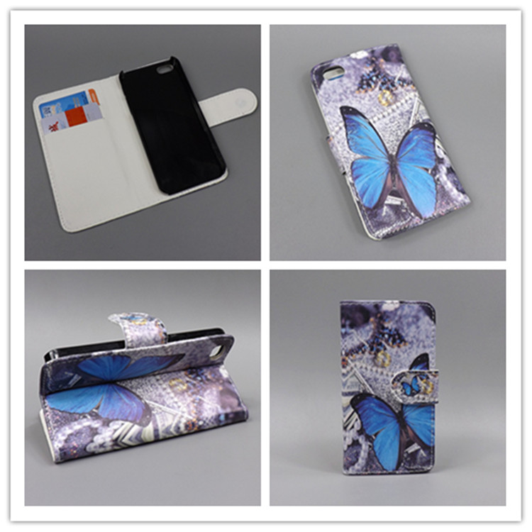 Case For IPHON 5 c New Butterfly Flower Flag Designer Wallet Flip Stand Book Cover Case for iPhone 5 c for iPhone 5 c Case(China (Mainland))