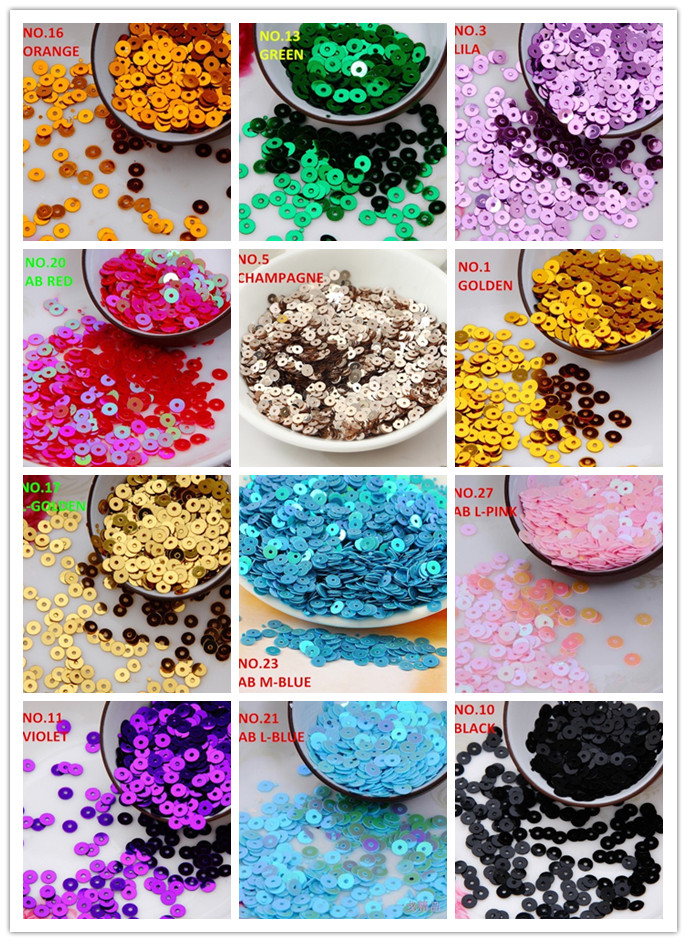 10000pcs 50g 4mm 15 color flat round loose sequins. Black Bedroom Furniture Sets. Home Design Ideas