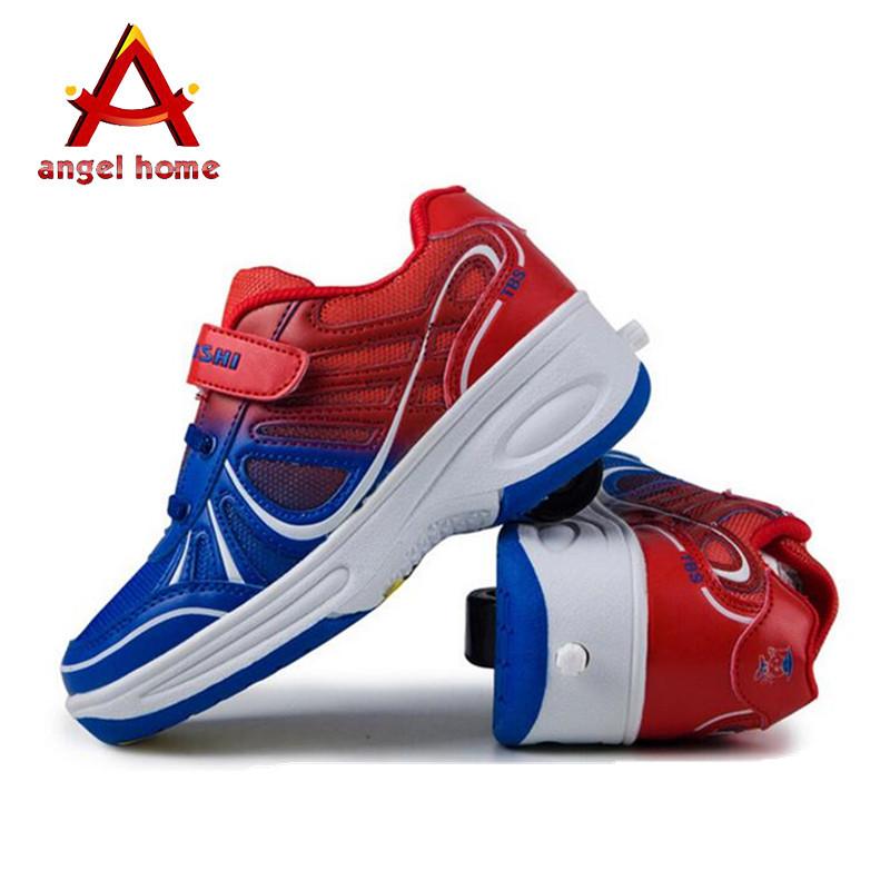 2016 winter warm 30-37 Hit color kids running shoes women man roller skate one wheel heelys shoeschildren sports - Angle Home store