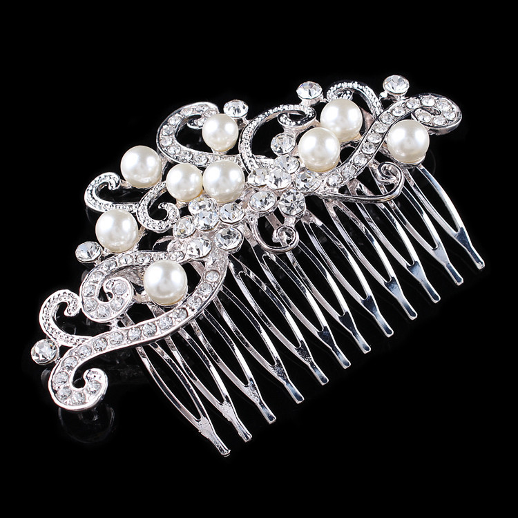 Bride headdress wedding accessories bride jewelry headpiece vintage hair clip bridesmaid crystal rhinestone hair clip comb(China (Mainland))