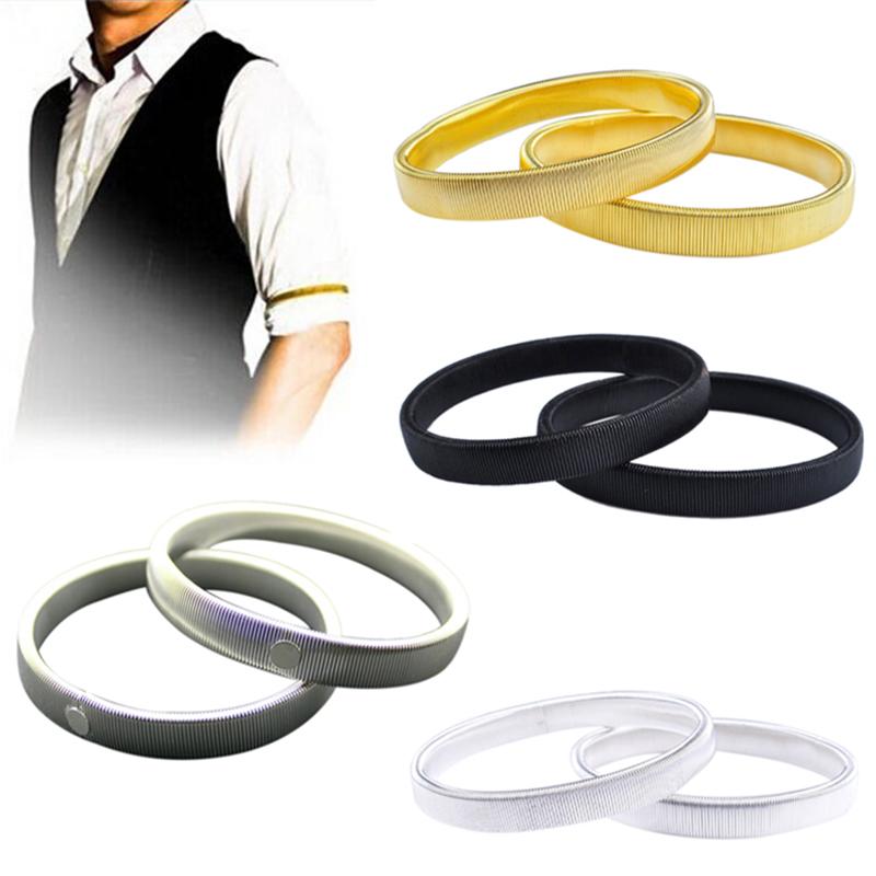 1PC Women Men Punk Solid Elastic Bracelet Metal Sleeve Hoop Springs Steel Wire Armband Bracelet RD872273(China (Mainland))