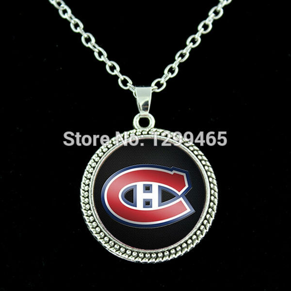 Montreal Canadiens NHL Hockey necklace Independent original design port team logo charms pendant hockey fans team gift N 398(China (Mainland))