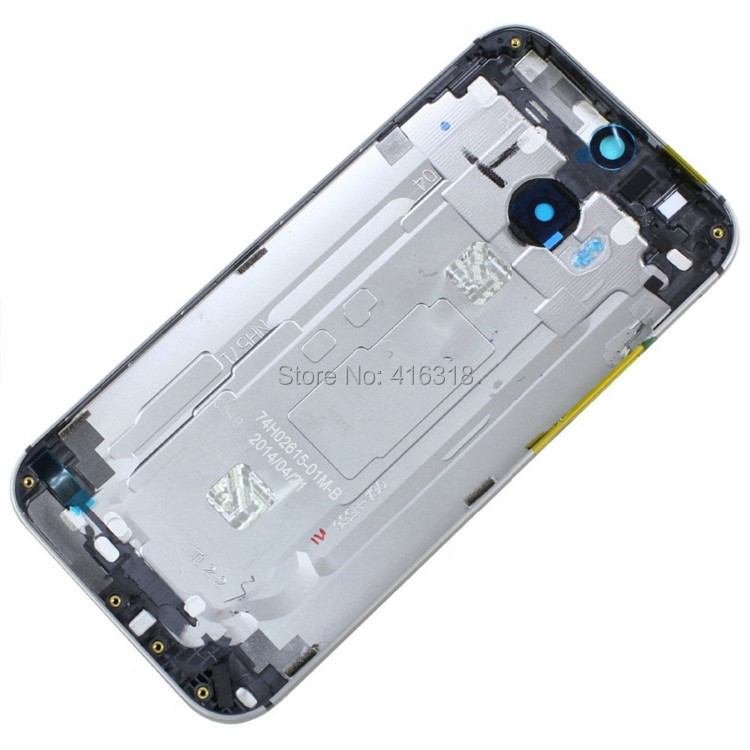 Genuine Original New Back Cover Battery Door Full Housing Case with Camera Lens for HTC One M8 Silver / Gray / Gold(China (Mainland))