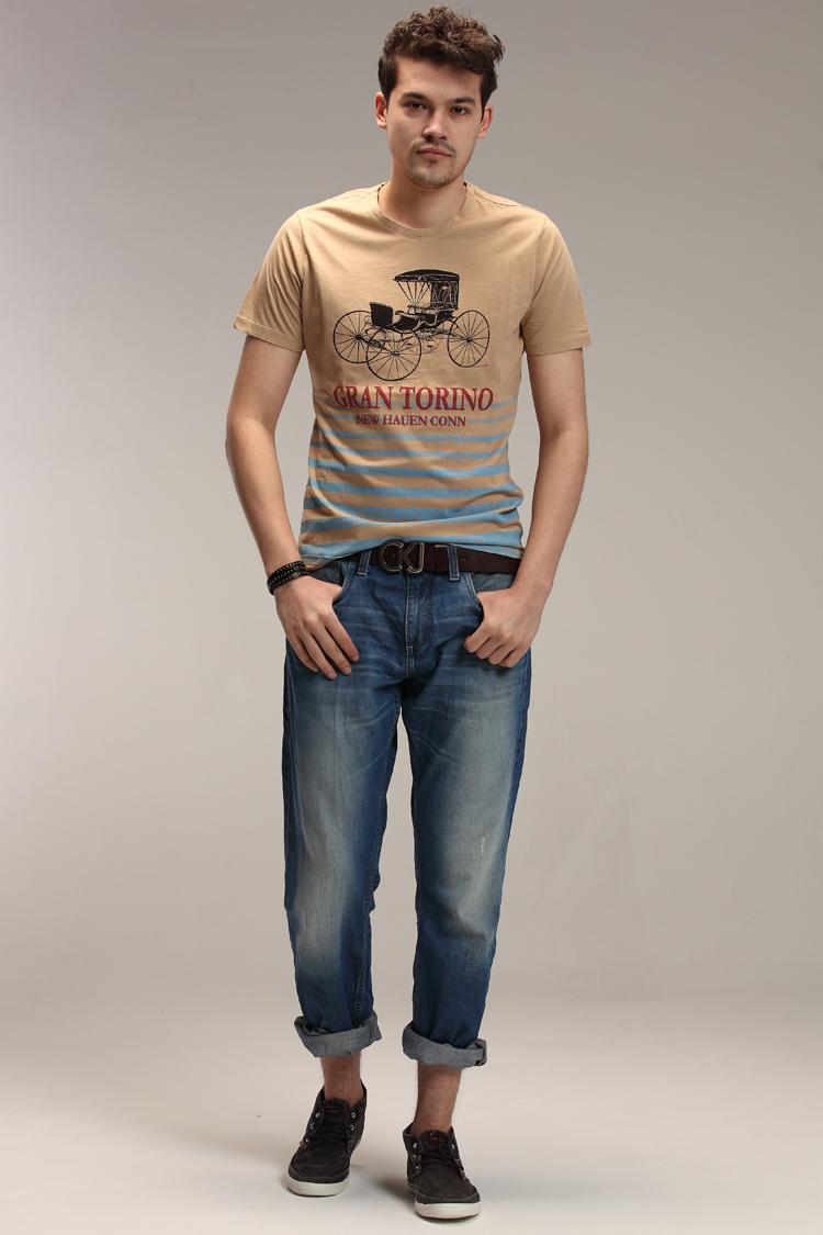 2015 new arrival free shipping EUR size cotton men's fashion O-NECK cheap raglan element t shirt(China (Mainland))