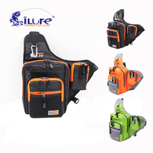 Buy ilure waterproof multifunction 32*39*12 cm canvas shoulder bag fishing carp fishing lure fishing tackle roll green/orange/black for $21.86 in AliExpress store