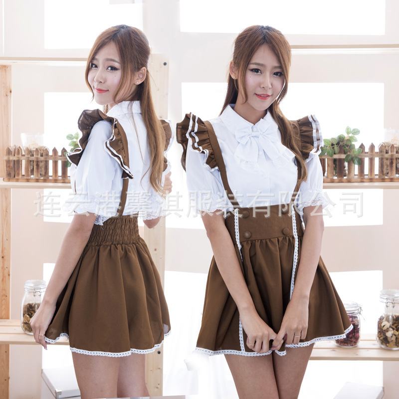 New Arrival Women's Anime Cosplay Waiter Service Uniforms Maid Dress Cosplay Maid Servant Costumes Halloween Costumes