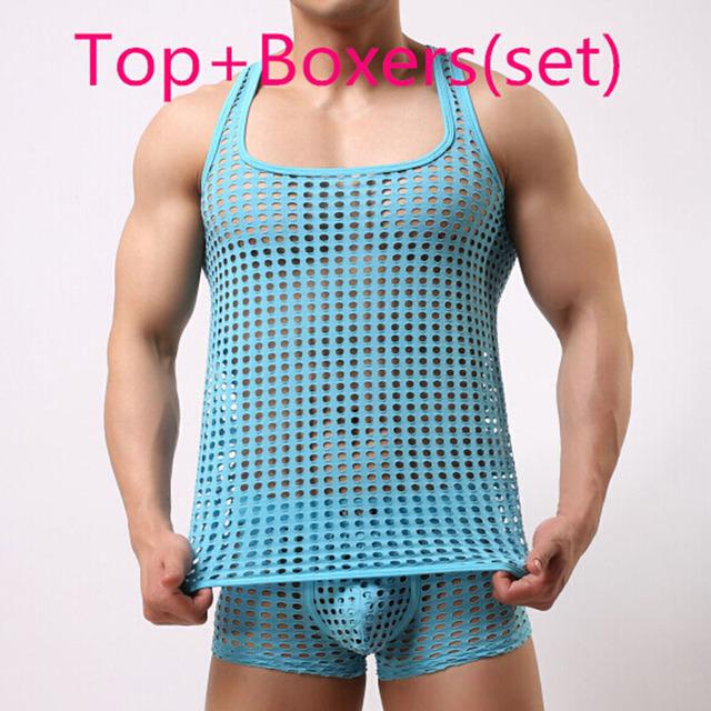 Тренажерный зал майка мужчин мода sexy гей шорты мужские Милые трусы нижнее белье ...
