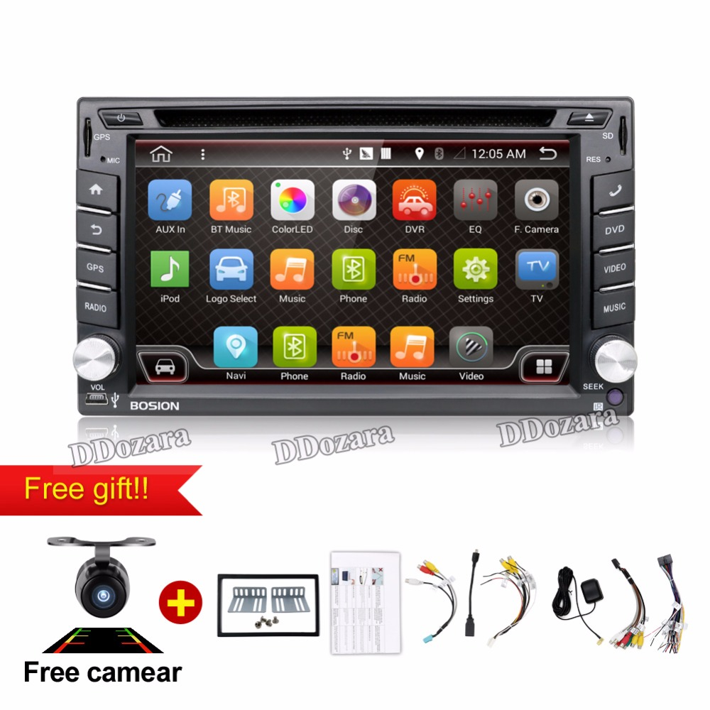 Quad Core 800*480 2 Din Android 6.0 Fit NISSAN QASHQAI Tiida Car Audio Stereo Radio GPS TV 3G WiFi dvd automotivo Universal DDR3(China (Mainland))