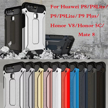 Iron Armor Dual Layer TPU+PC 2 1 Hybrid Protective Hard Back Cover Case Huawei P8 P9 Lite G9 Plus Mate 8 Honor V8 / 5C - Shenzhen CiCi Trade Co., Ltd. store
