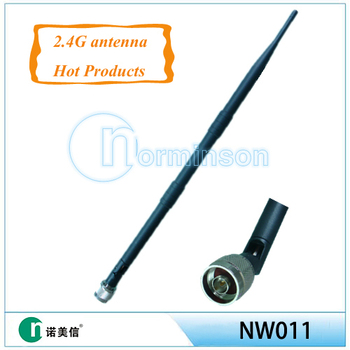 [Manufactory]2.4ghz wifi antenna rubber omnidirectional antenna ,9db wifi antenna