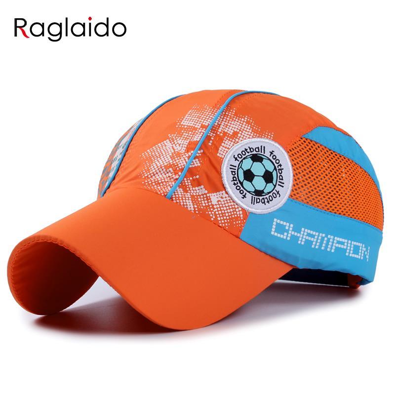 Raglaido Children Sun Hat Cap Baby Baseball Cap Kids Football Embroidered Waterproof Quick Dry Mesh Visor Hats LQJ01130(China (Mainland))