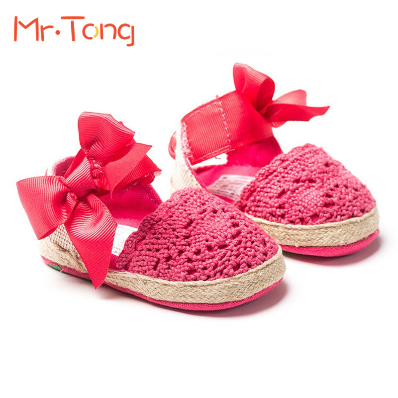 Bow Dress Knitting Shoes Summer Infant Toddler Princess First Walkers Newborn Baby Girls Kid Prewalker Soft Soled Shoes(China (Mainland))