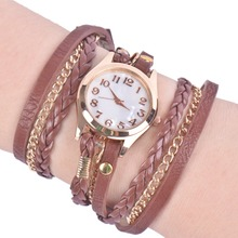 lackingoneDigital Watch Hot Buy Korean Fashion Retro Bracelet Watches Woman Casual Knit Long Leather Quartz Watch