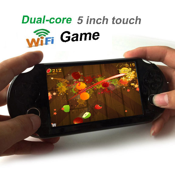 5.0 inch Android 4.2 Dual core Games Tablet PC GamePad+ Cameras 8GB Handheld Game Console Player free shipping(China (Mainland))