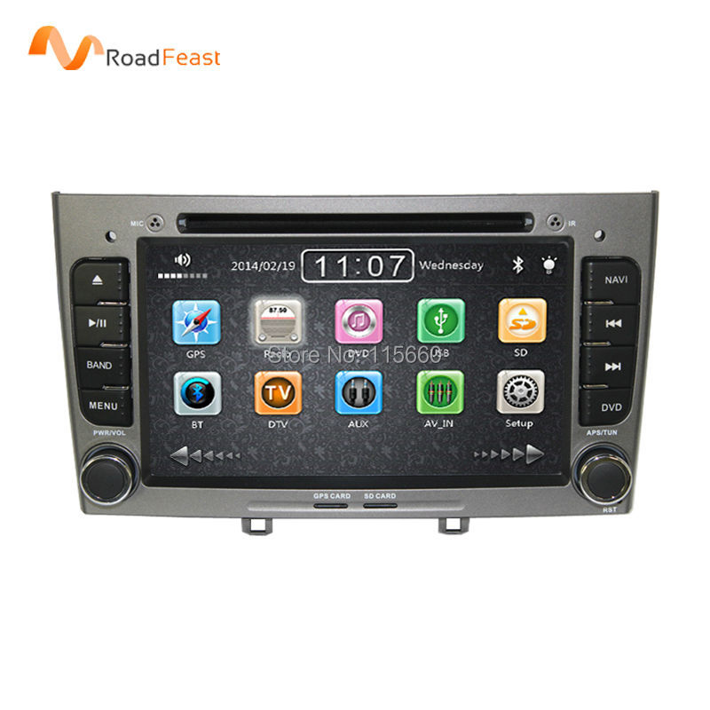2din in dash Special Car DVD Stereo Navigation for Peugeot 408 & 308 Gray with GPS RDS IPOD 3G SWC Rearview Free 8GB Map card(China (Mainland))