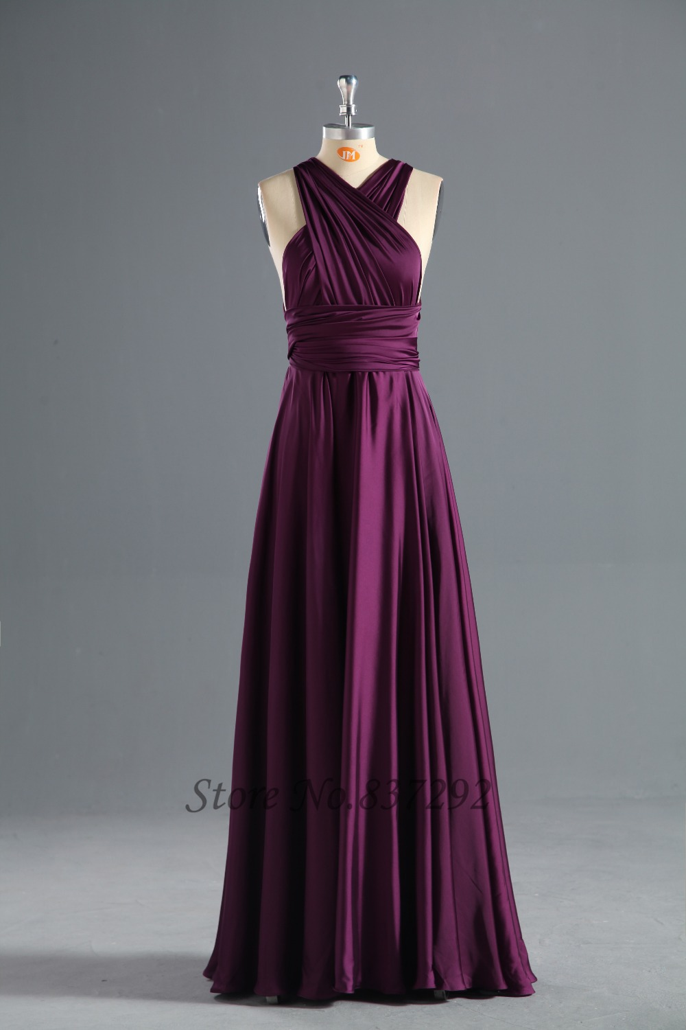 Free shipping cheap purple bridesmaid dresses floor length for Cheap wedding and bridesmaid dresses