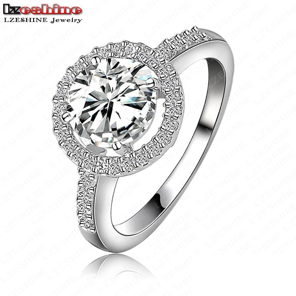 Luxury Quality Hearts & Arrows Micro Inlay Cut Cubic Zirconia Wedding/Engagement Rings For Women CRI0001(China (Mainland))
