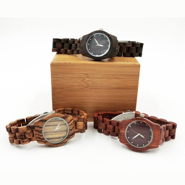 2016 Hot fashion leisure bamboo wooden watches fine handmade crafts Ladies Wristwatches women quartz watch(China (Mainland))