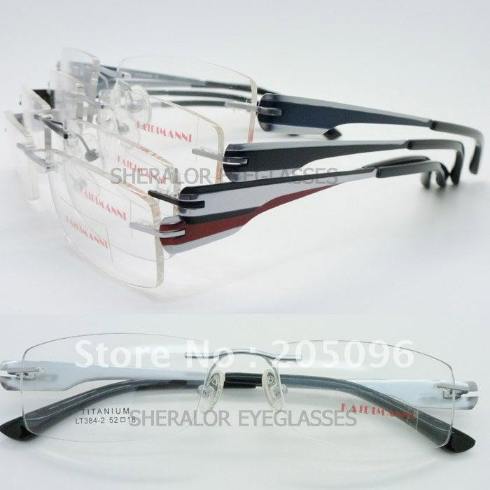 Wholesale LT384 constitute bendable beta titanium rimless supper lightweight prescription eyeglass frames fast and free shipping(China (Mainland))