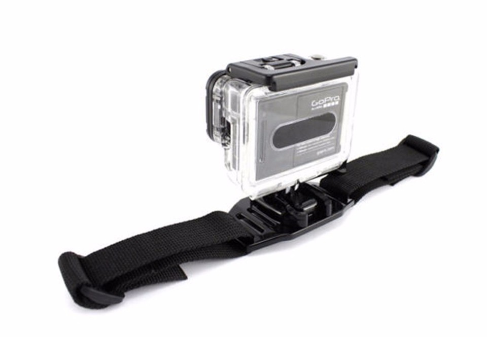 Vented Adjustable Head Adapter Strap Belt GoPro Mount Holder Helmet For Sport Gopro HD Hero 4 3+ xiaomi yi Camera Accessory GP04