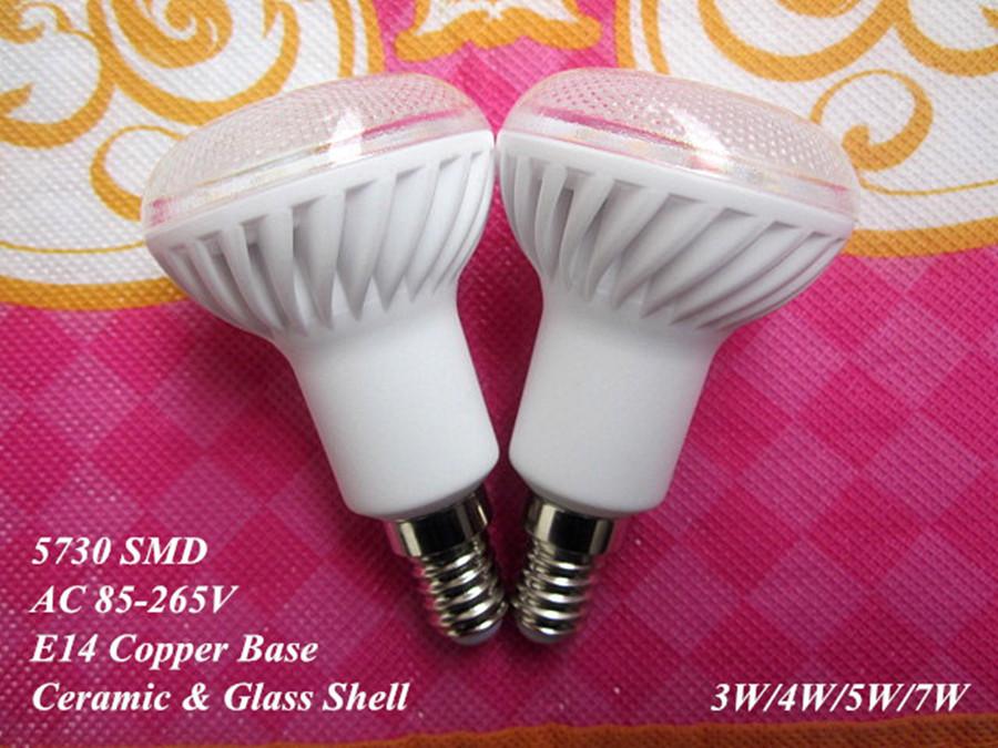 1 E14 110V/220V 3W/5W/7W Ceramic LED bulb lamp light 5630/5730 SMD warm/cold white R50 - baoyuebiao's store