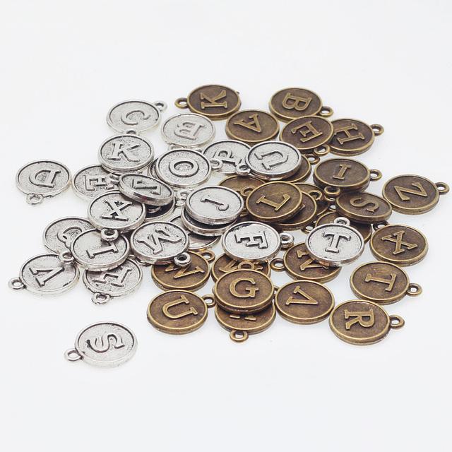 buy vintage zinc alloy round alphabet a z