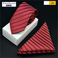 Formal Business Men Tie Brand Necktie Groom Gentleman Ties Wedding Party Formal Solid Pocket towel Slim