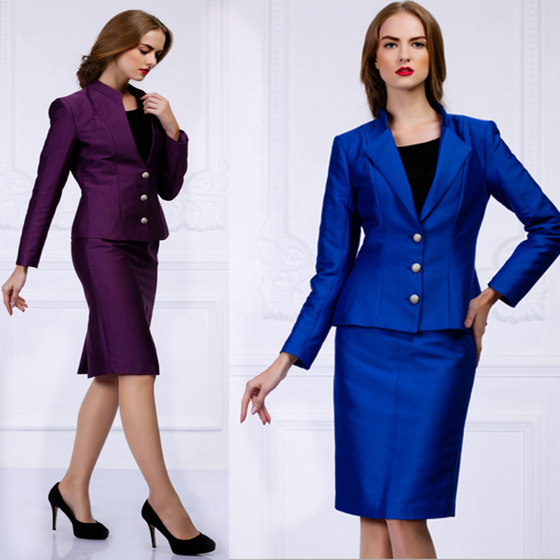 Formal ladies office skirt suit 2015 office uniform for Office uniform design 2015