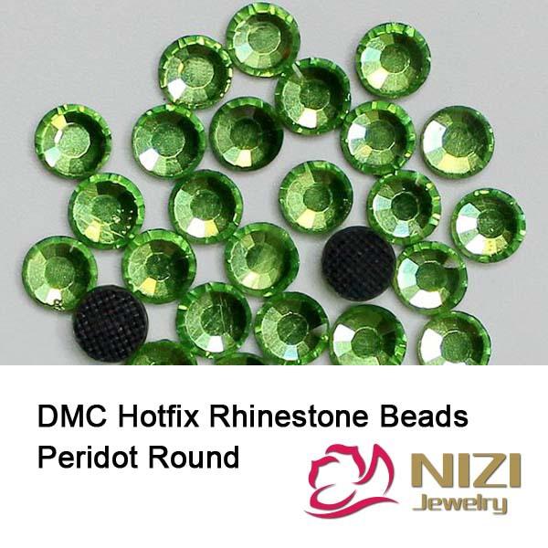 New DIY Beads With Glue Backing DMC Hotfix Rhinestones For Garment Peridot Beads For Wedding Designs Round Flatback Glass Beads <br><br>Aliexpress