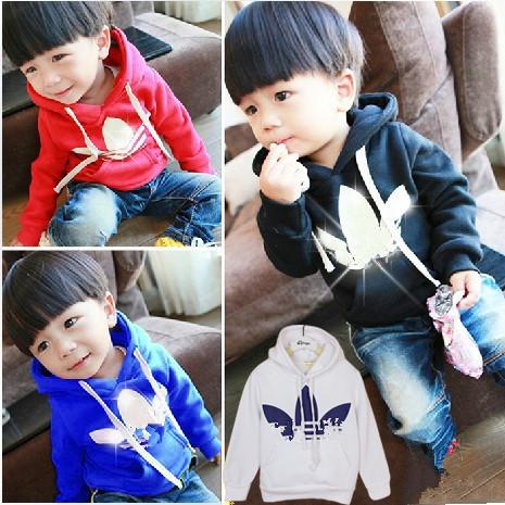 2015 New Spring Autumn Kids Hoodies Coats Boys Sweatshirts Sport Baby Boy Hoodies Childrens Girls Blouse Outerwear(China (Mainland))