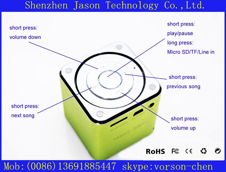 popular mini mobile speaker box mp3 player design(China (Mainland))