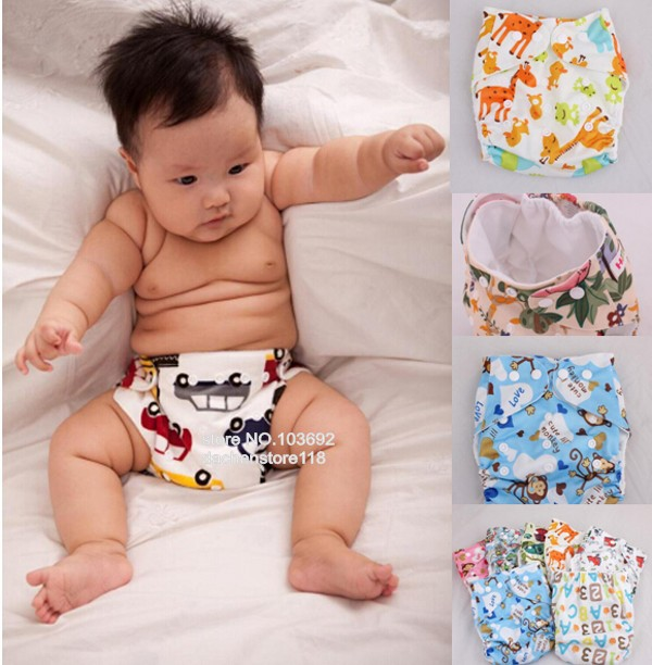Cute animal printing baby training pants newborn cloth reusable diapers reusable nappies cover washable diaper underwear fraldas(China (Mainland))