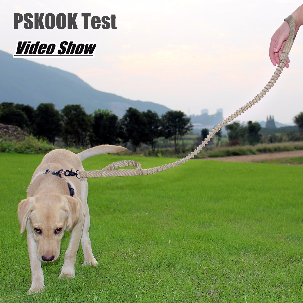 PSKOOK Tactical Dog Leash Quick Release Adjustable Dog Rope Military Dog Leads Tactical Belt(China (Mainland))