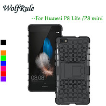 Case Huawei P8 Lite Cover Anti-knock Silicone & Hard Plastic Cover Case For Huawei P8 Lite Case P8 Mini Phone Holder Funda }<