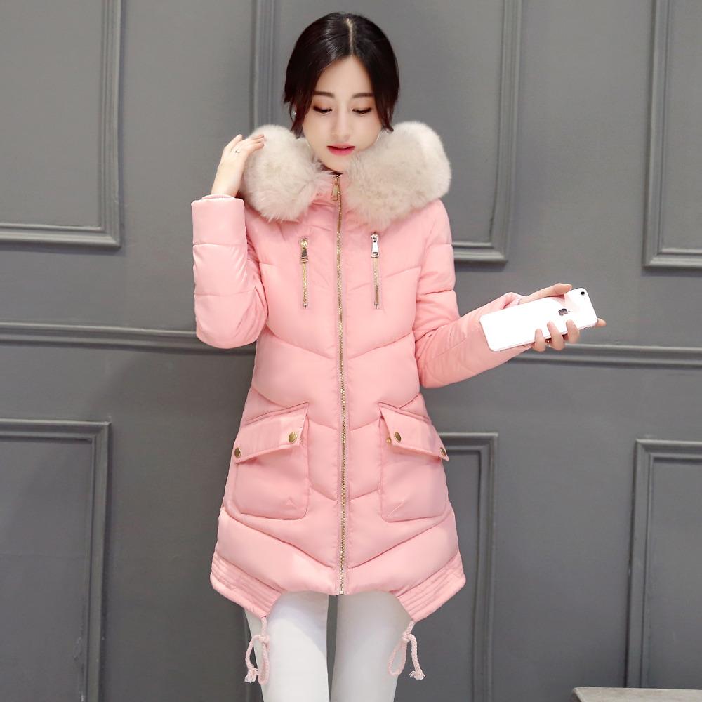 Winter Jacket Women Large Fur Collar Hooded Jacket Thick Coat For Women Outwear ParkaCoatscasacos de inverno feminino(China (Mainland))