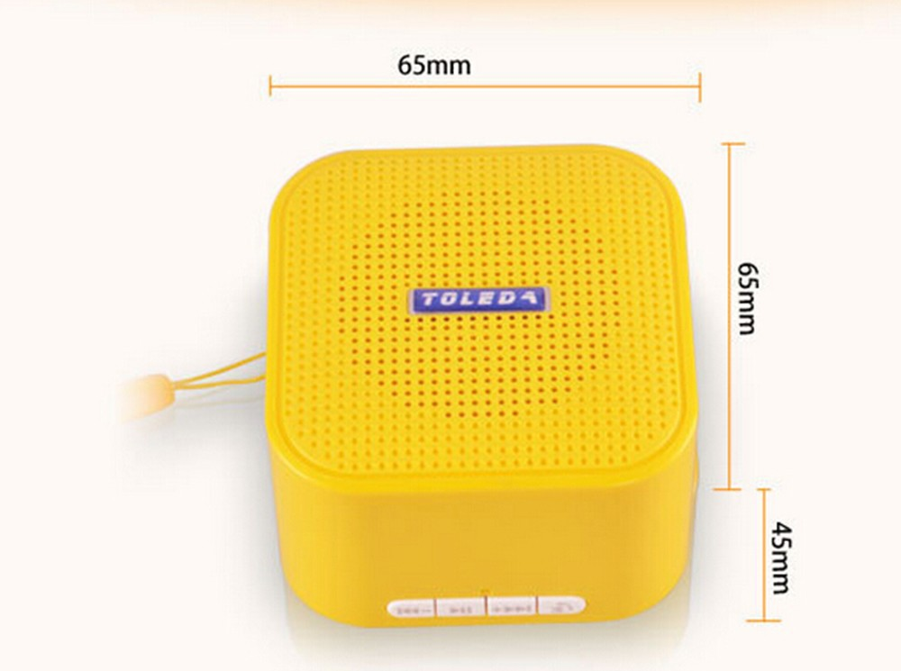 10001/3TW TOLEDA TLS02 Mini Wireless Bluetooth Speaker Subwoofer Portable Loudspeaker Sound Box TF Card MP3 Playler - TrustWorthy INT'L Holding Group store
